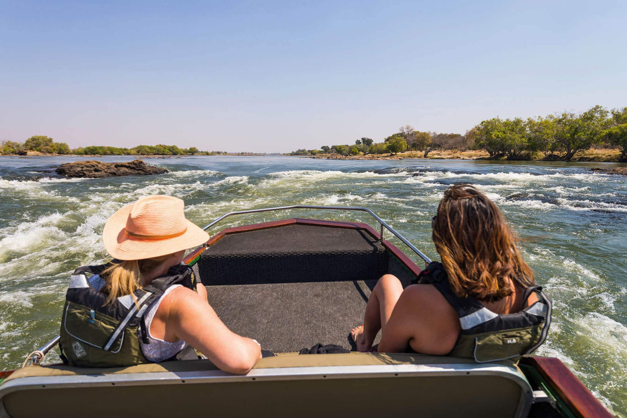 Boat cruise on the Zambezi River